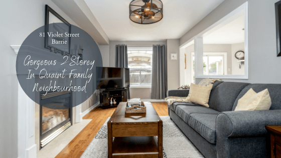 Gorgeous 2 Storey Home Located at 81 Violet Street in Barrie